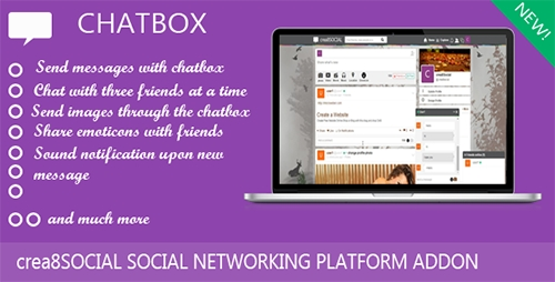 CodeCanyon - Chatbox v1.2 - Addon for creea8SOCIAL