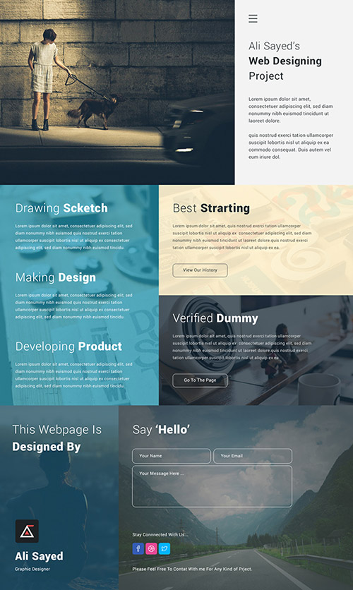 PSD Web Template - Creative Minimal Business Agency