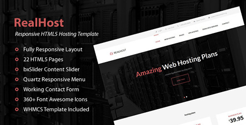 ThemeForest - RealHost - Responsive HTML5 Hosting Template - RIP