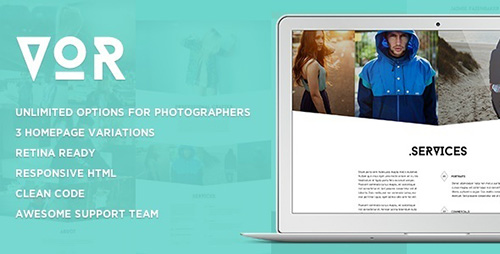 ThemeForest - VOR - Clean Photography Template - RIP