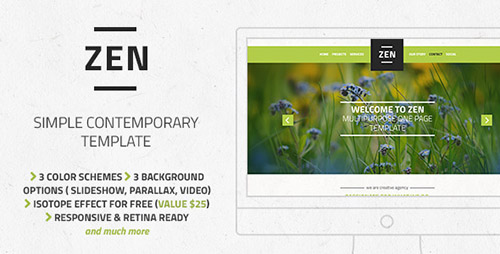 ThemeForest - Zen - Multipurpose One Page Template - FULL