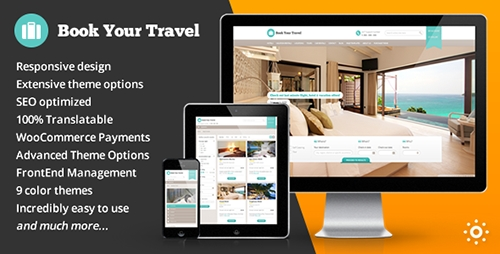 ThemeForest - Book Your Travel v5.30 - Online Booking WordPress Theme