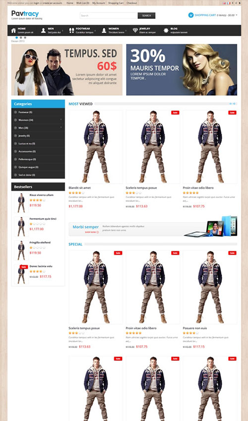 PavoThemes - Pab Tracy - Responsive Opencart theme for Fashion, Handmade, Clothe shop