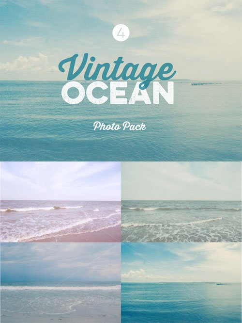Vintage Ocean Photo Pack - CreativeMarket 62138