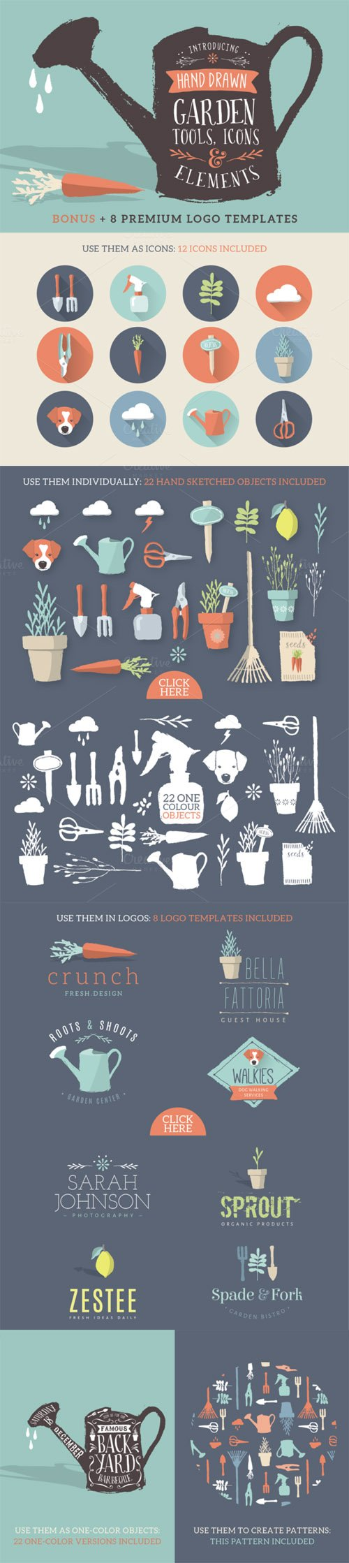 Creativemarket - Sketched icons, tools & elements 92851