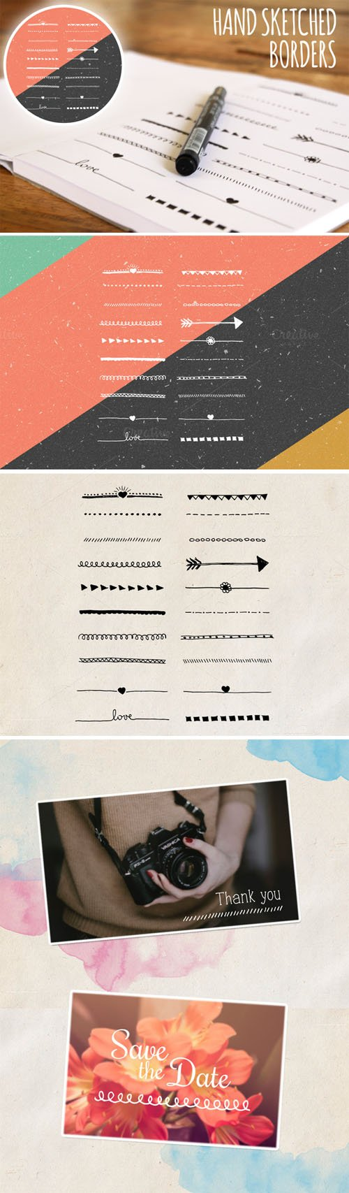 Hand Sketched Borders - Creativemarket 78181
