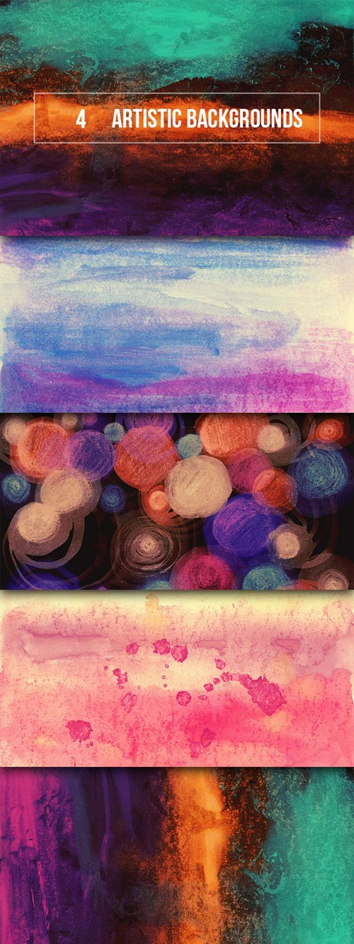 4 Hi-Res Abstract Artistic Backgrounds