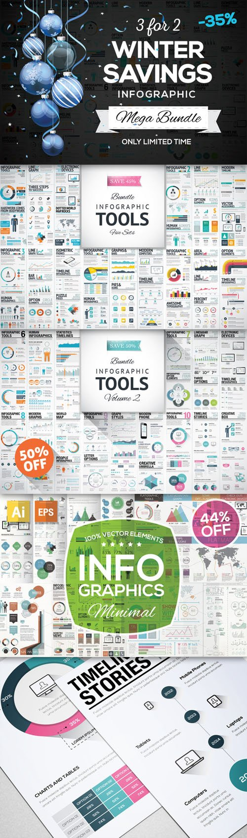 SAVE 35% - Infographic Mega Bundle - Creativemarket 120921