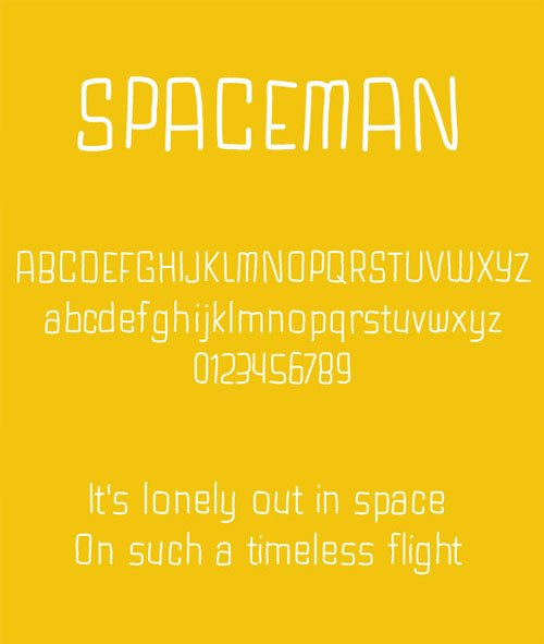 Spaceman - Hand Drawn Font Face