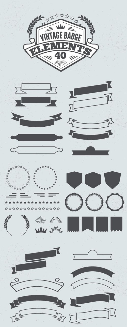 Vintage Vector Badge Elements