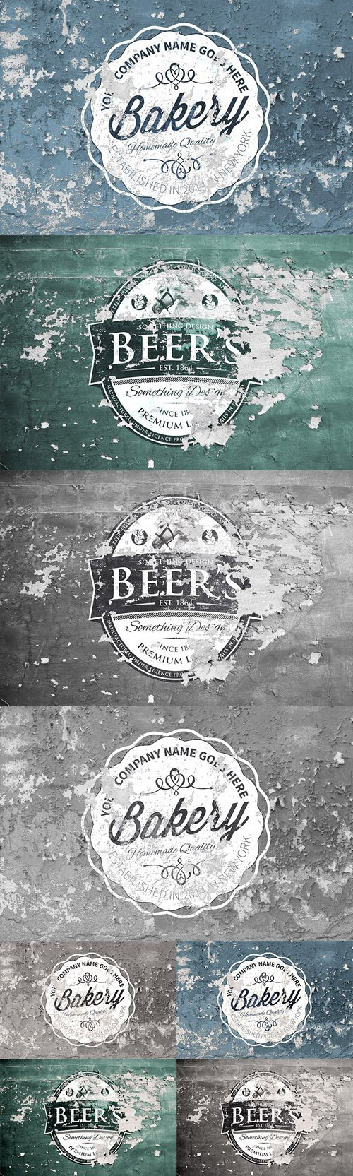 Vintage Overlay Textures PSD Template