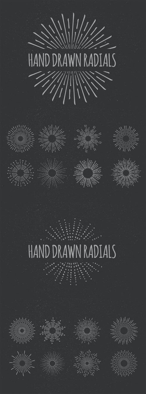 Hand Drawn Vector Radials