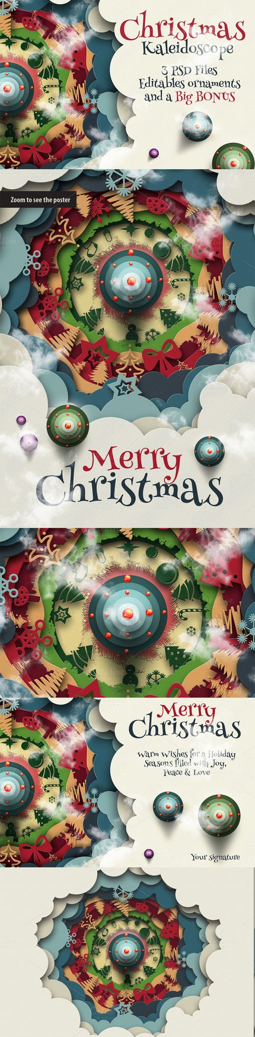 Christmas Kaleidoscope Animated - CM 119298