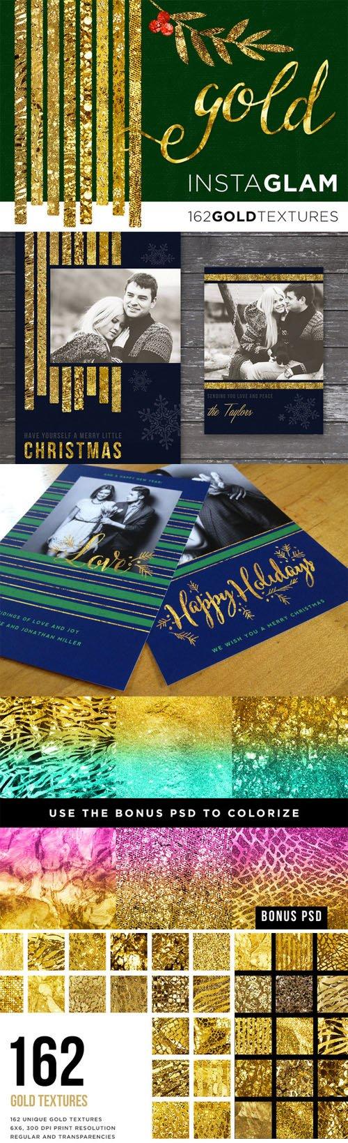Gold Foil InstaGlam Texture Megapack - Creativemarket 95032