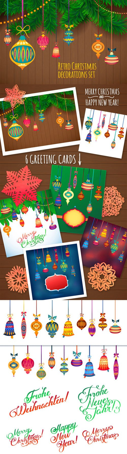 Merry Christmas Cards - Creativemarket 132482
