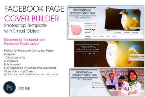Facebook Page Cover Builder - Creativemarket 49735