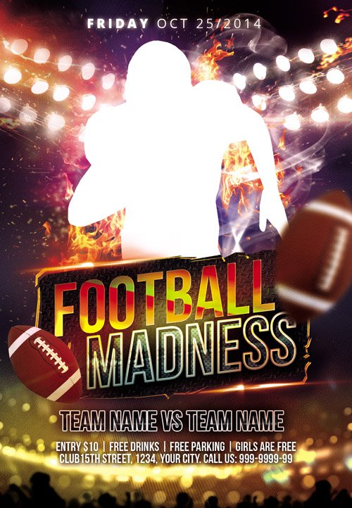 Flyer PSD Templates - Football Madness