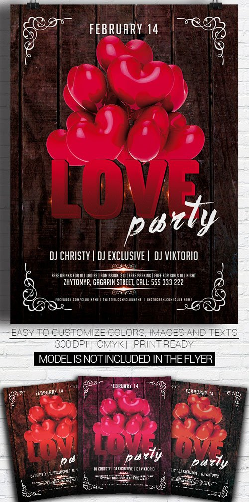 Love Party Vol 2 - Flyer Template