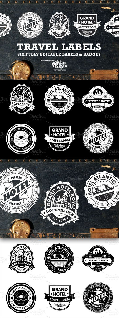 Travel Labels and Badges - CM 6861