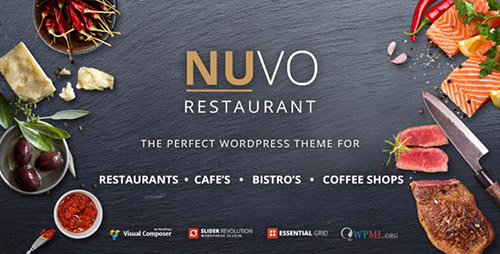 ThemeForest - NUVO v2.5 - Restaurant, Cafe & Bistro Wordpress Theme