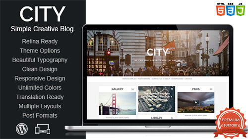 Mojo-Themes - City v1.0 - Retina Responsive Creative Blog WordPress Theme