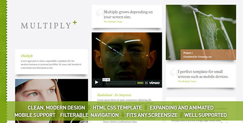 ThemeForest - Multiply v1.5 - Blog and Portfolio HTML/CSS Templates - FULL