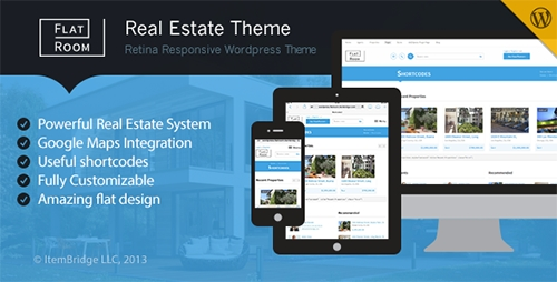 ThemeForest - FlatRoom v1.2.3 - Responsive Real Estate WordPress Theme
