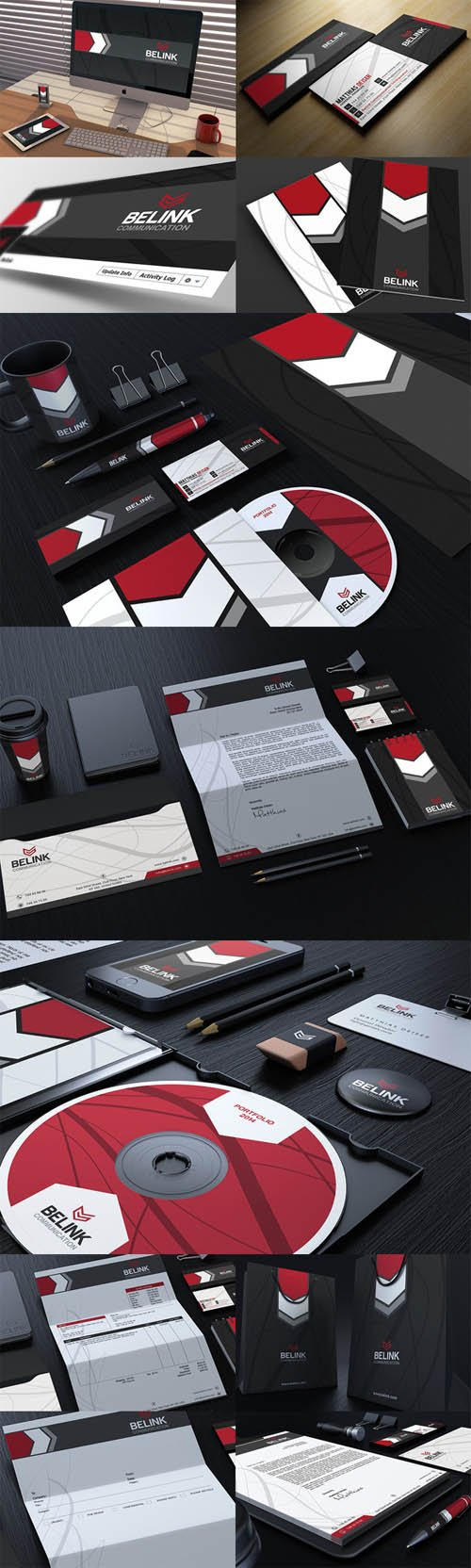 Red And Black Corporate Identity