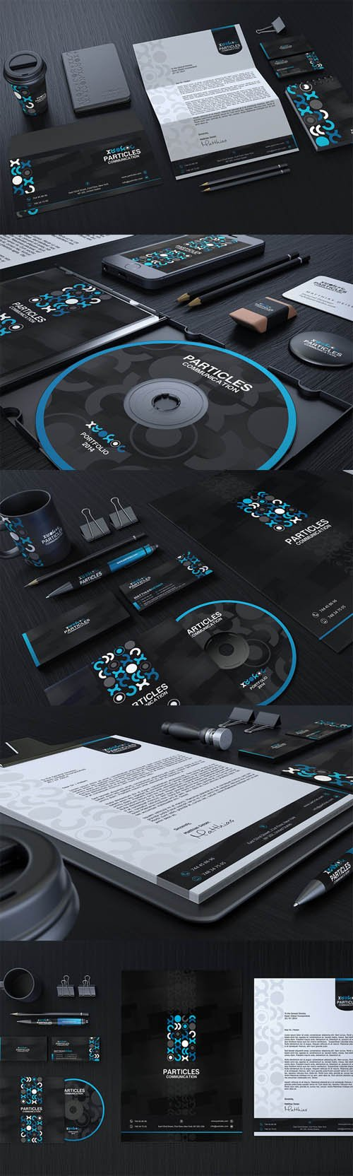 Black And Blue Corporate Identity