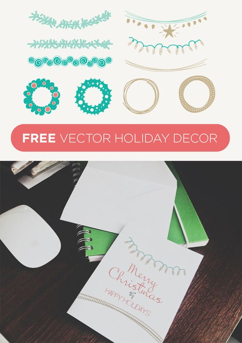 Vector Holiday Decor - Creativemarket 17275