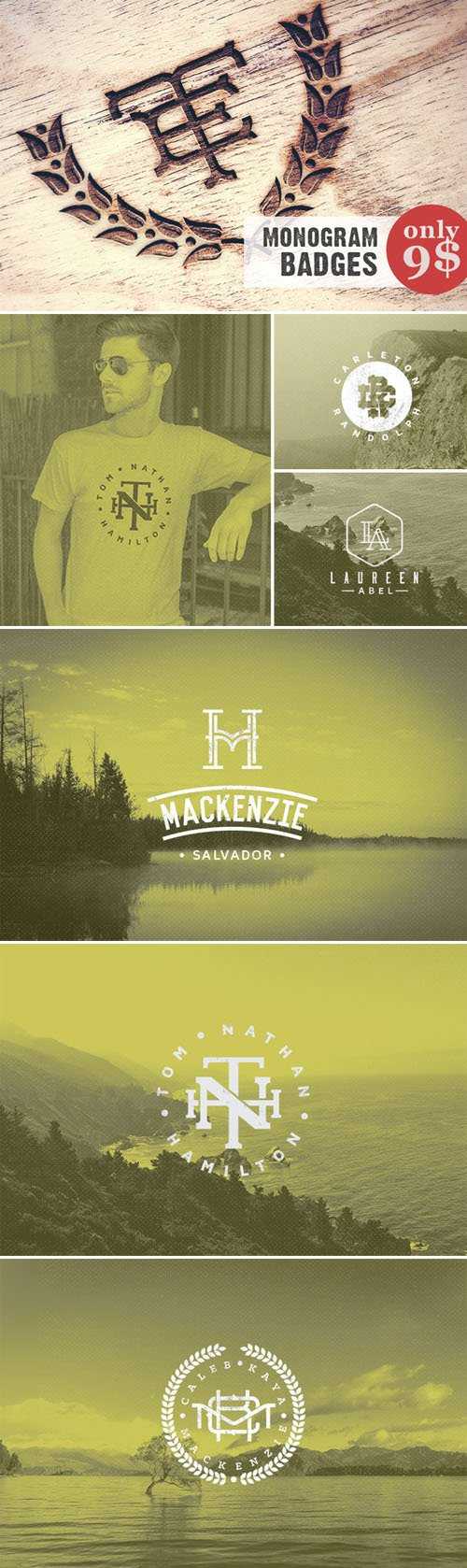 Monogram Pack 0.1 - Creativemarket 95695