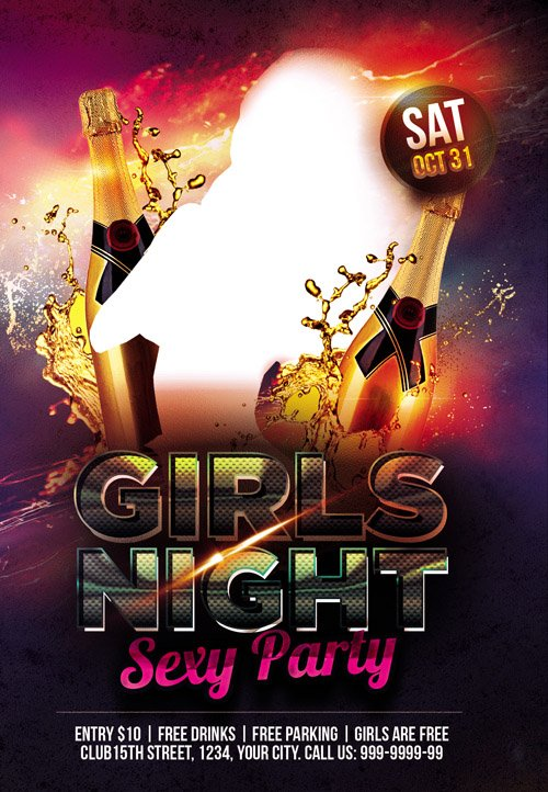 Flyer PSD Template - Girls Night Sexy Party