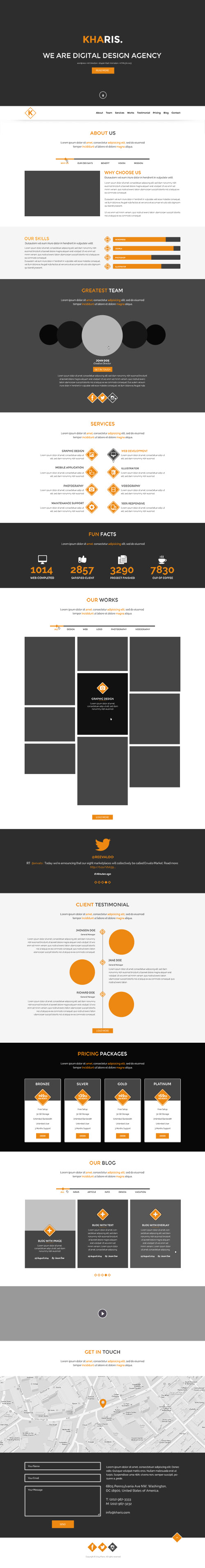 PSD Web Template - Kharis - One Page Theme