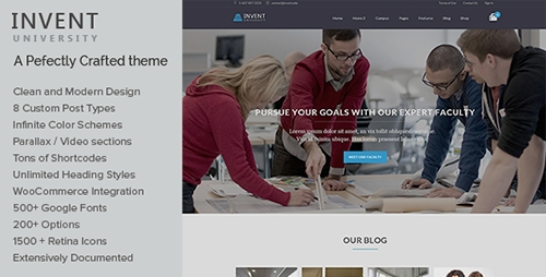 ThemeForest - Invent v1.4 - Education Course College WordPress Theme