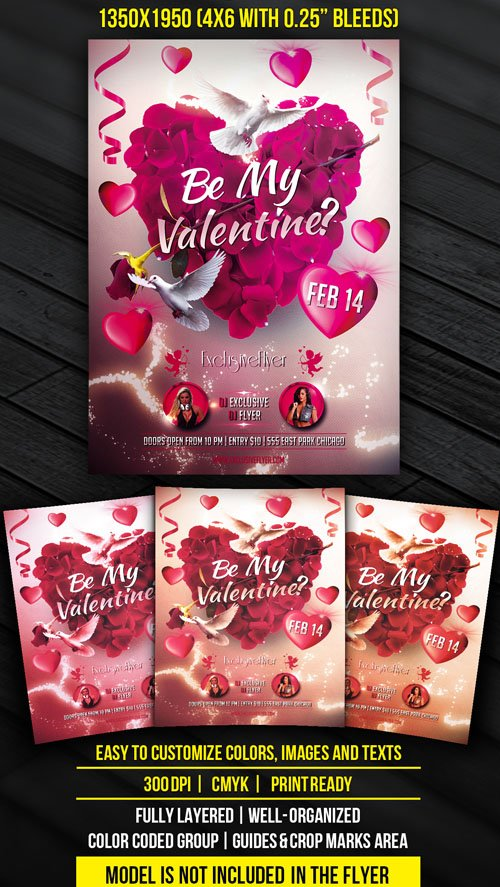 Flyer Template - Be My Valentine