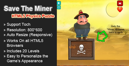 CodeCanyon - Save the Miner HTML5 Physics Puzzle