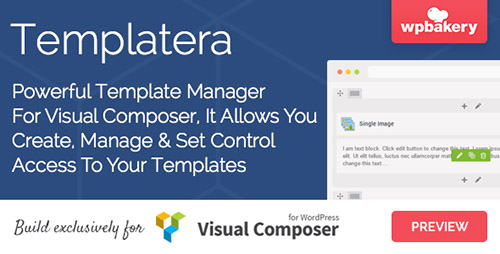 CodeCanyon - Templatera v1.1 - Template Manager for Visual Composer