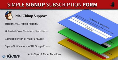 CodeCanyon - Simple Subscription Popup-jQuery Email Signup Form v1.43