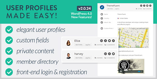 CodeCanyon - User Profiles Made Easy v2.0.24 - WordPress Plugin