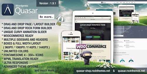 ThemeForest - Quasar v1.9.1 - Wordpress Theme with Animation Builder