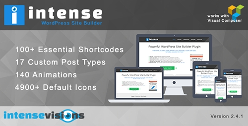CodeCanyon - Intense v2.4.1 - Shortcodes and Site Builder for WordPress