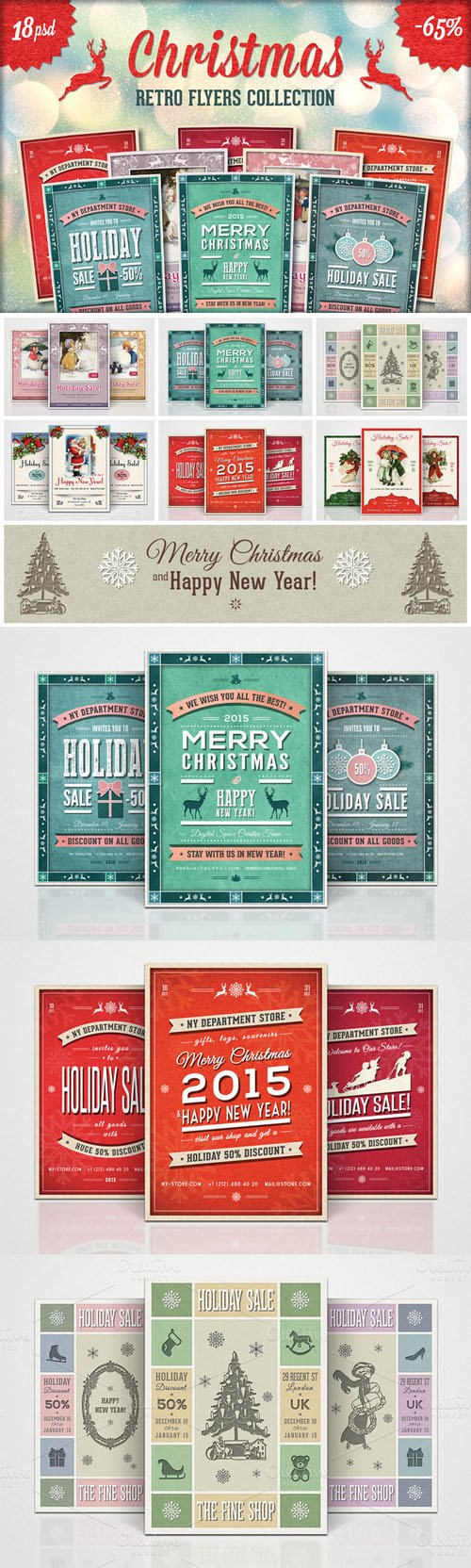 18 Retro Christmas Flyers Collection - CM 18344