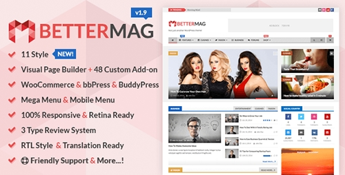 ThemeForest - BetterMag v1.9.1 - News, Blog, Magazine WordPress Theme