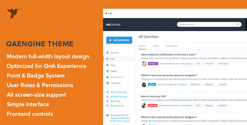 ThemeForest - QAEngine v1.4 - Question and Answer WordPress Theme