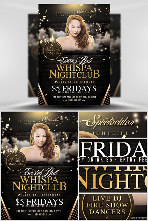 Whispa Flyer Template