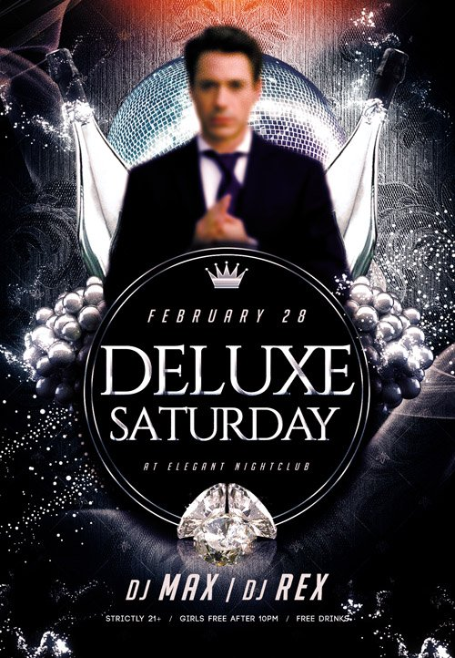 Flyer PSD Template - Deluxe Saturday