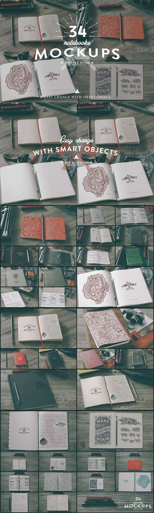 34 Hip Notebook Mock-ups - CM 47903