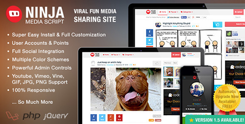 CodeCanyon - Ninja Media Script v1.1.8 - Viral Fun Media Sharing Site
