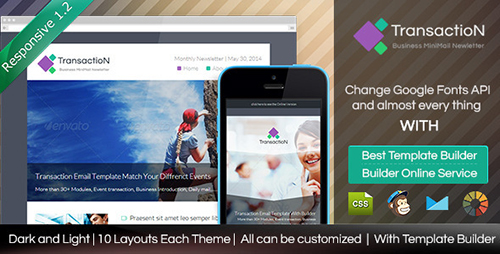 ThemeForest - Transaction v1.2 - Responsive Email With Builder - FULL