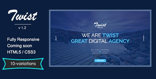 ThemeForest - TWIST v1.2 - Responsive Coming Soon Page - FULL